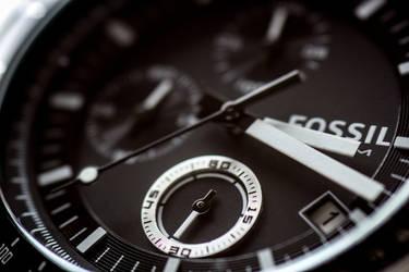 Fossil watch closeup