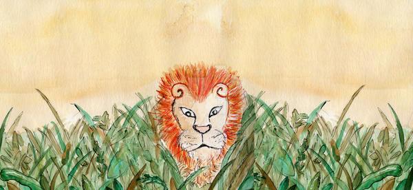 lonely lion by louisemc