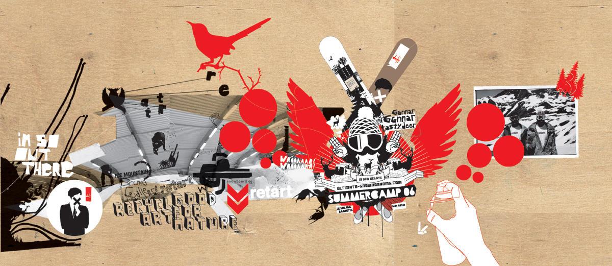 retart collage for scsmag by j-focus
