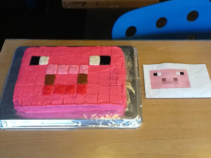 Minecraft Pig Cake Images : Minecraft Piggy Cake! by AVPMismylife on DeviantArt