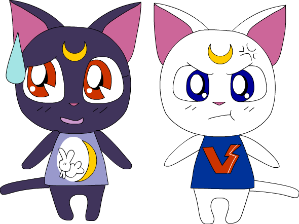 Luna and Artemis Villagers~ by PiliBilli