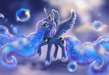 If you want to see the bubbles in your dream by Egretink