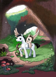 Into the cave by Egretink