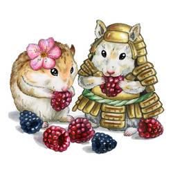 Hamster-samurai by Egretink