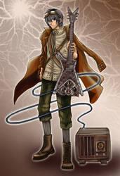 Steampunk Guitarist by dreamstone