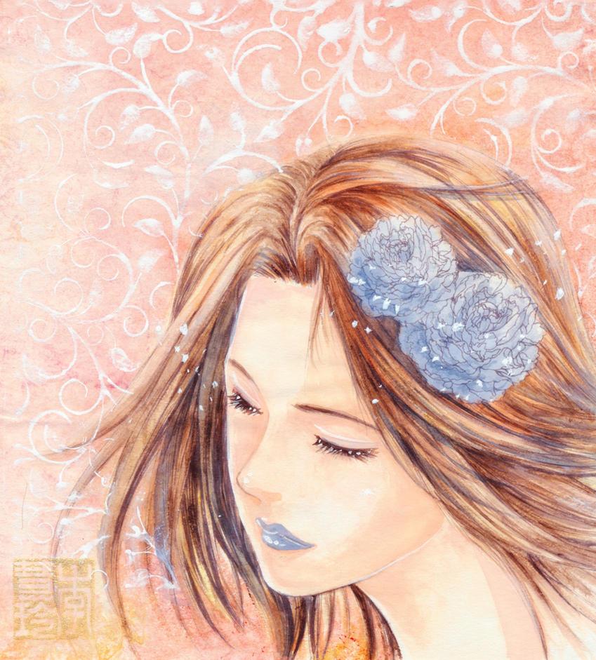 Blau Rosen by dreamstone