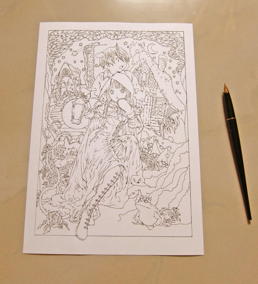 From the Land of Fables lineart by dreamstone