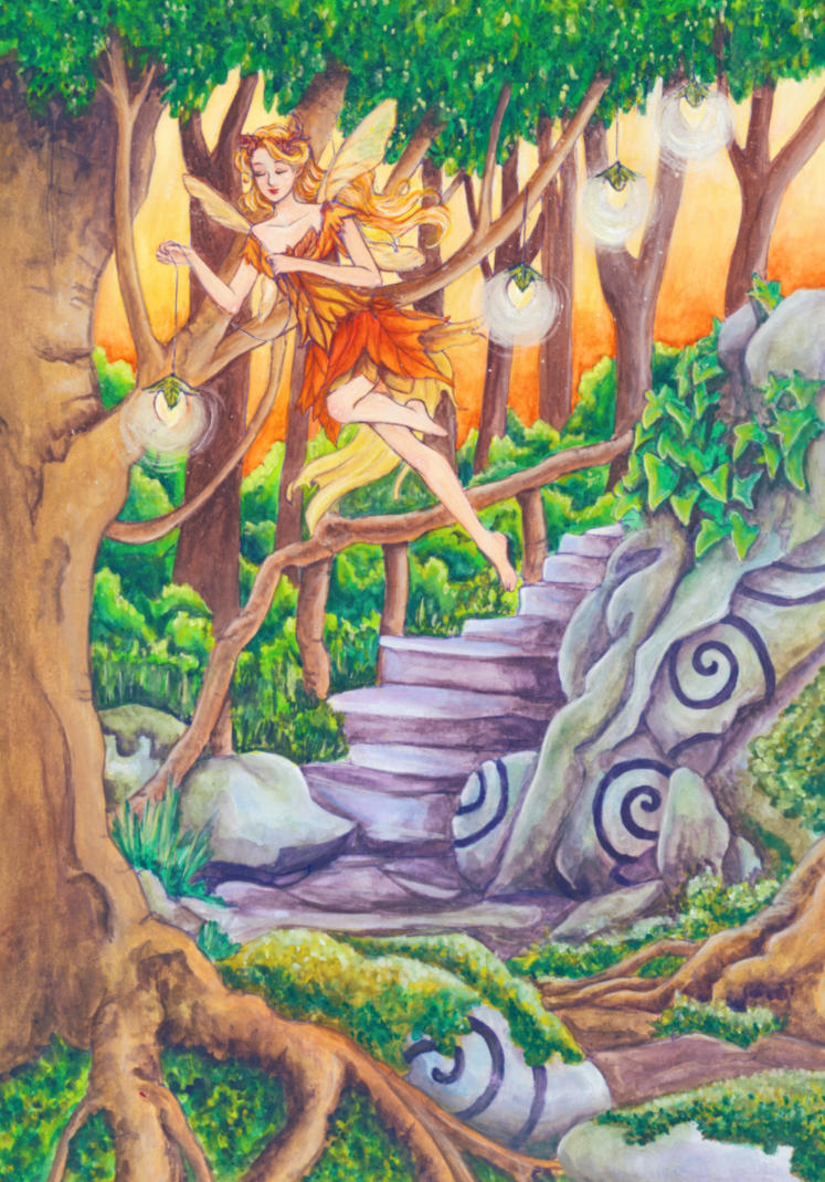 Sunset in the woods by dreamstone on deviantart - The hideout in the woods an artists dream ...