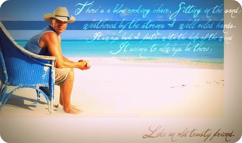 The Gallery For Kenny Chesney Blue Chair