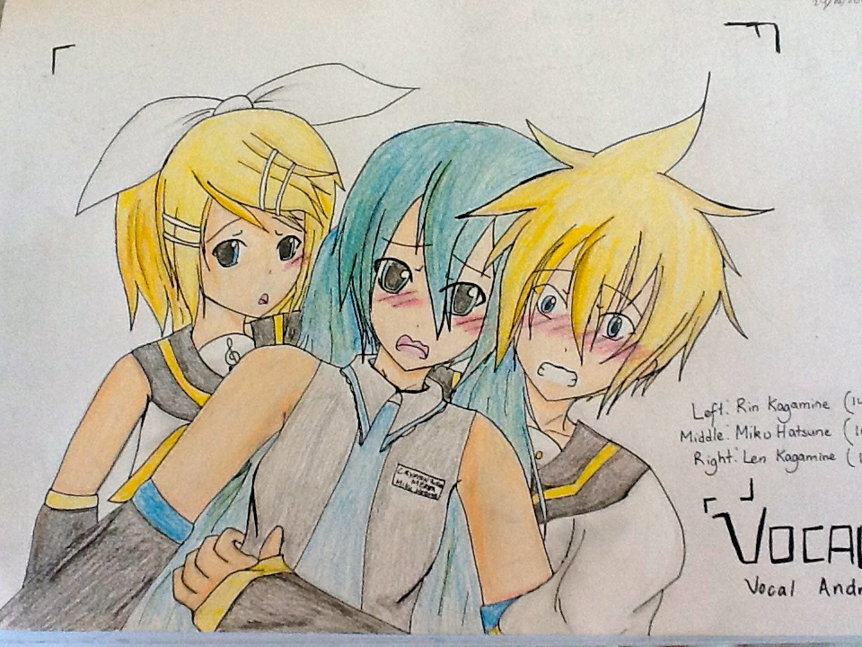 Rin, Len and Miku - Ehh?! by DeathRuby