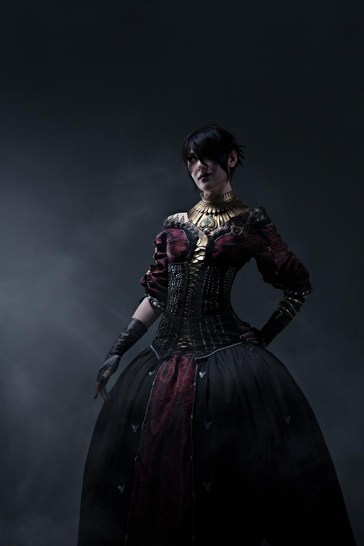 Shadows in Orlais (Morrigan DA:I cosplay) by brother-caleb