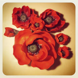 Poppies set WIP by Merlyn-Wooden