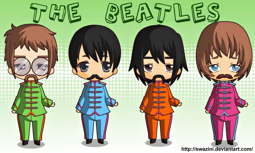Chibi Sgt. Pepper Beatles by swazini on DeviantArt: swazini.deviantart.com/art/Chibi-Sgt-Pepper-Beatles-350981326