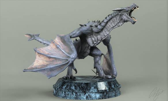 3D model of dragon statue