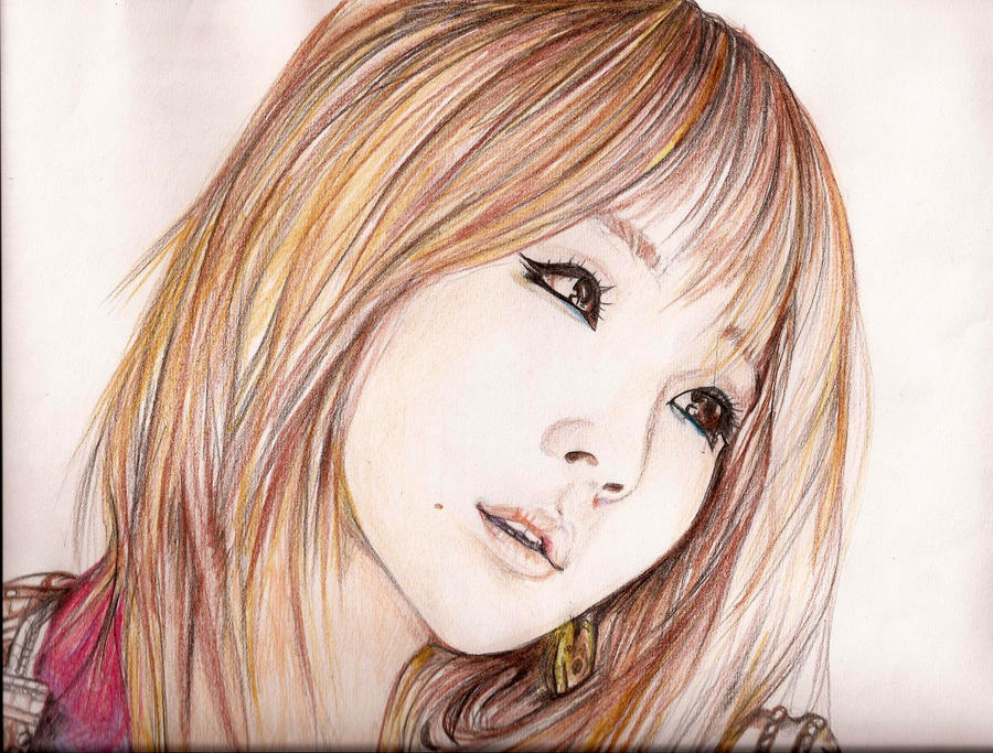 how to draw hair with pencil crayons