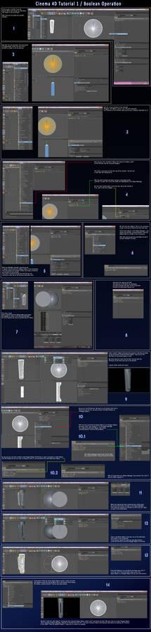 Cinema 4D Tutorial 1 - Boole
