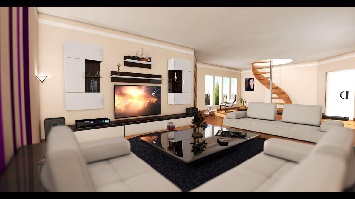 Living room wide angle by donmichael71 on deviantart for 10 wide living room
