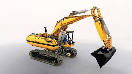 LEGO Excavator / Rendering...not Real... by DonMichael71