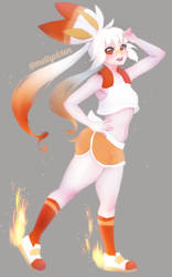 Scorbunny Girl (Pokemon Sword and Shield) by MeltyVixen