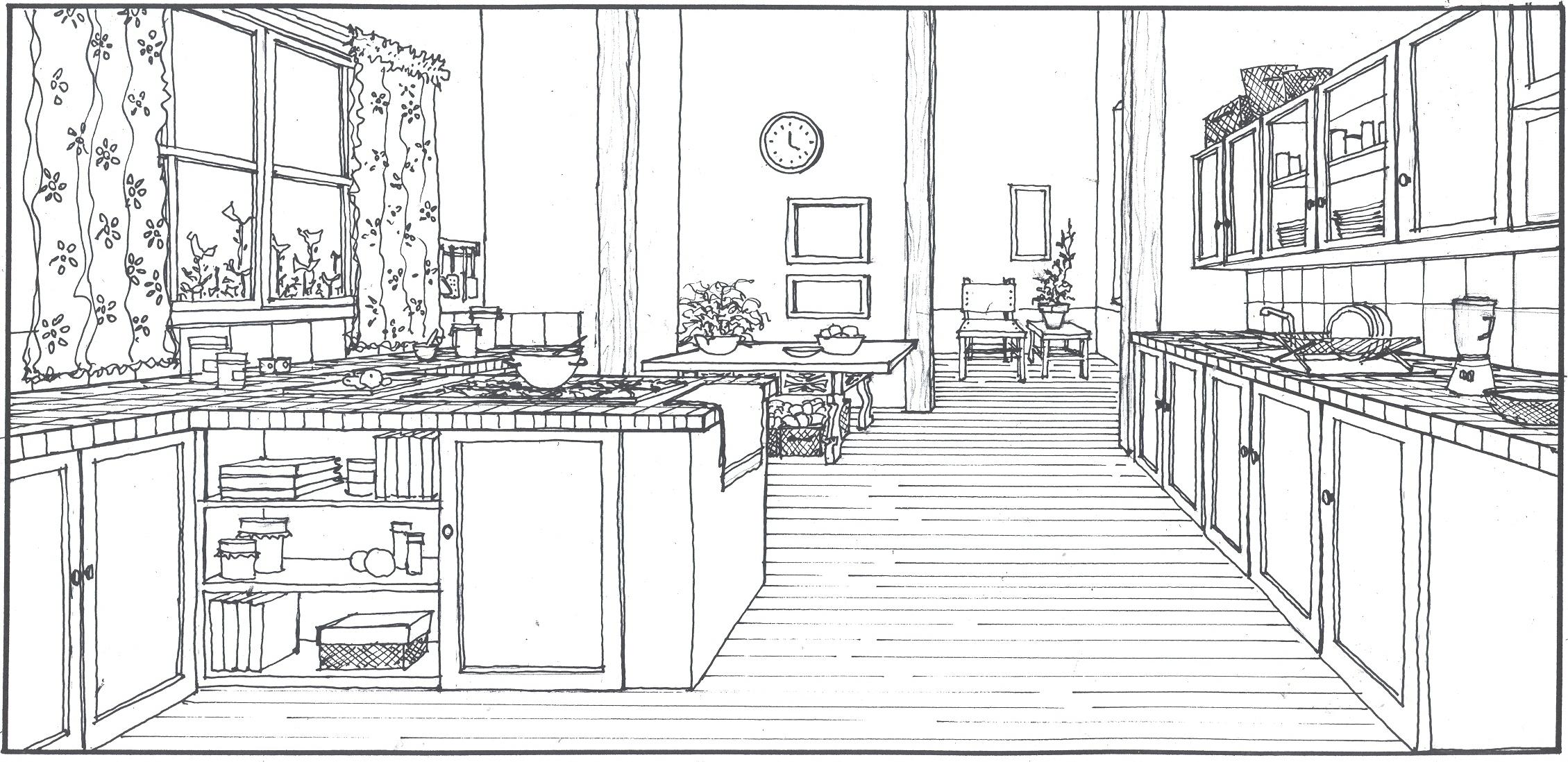Kitchen Sketch By Arquitectcardesigns On Deviantart