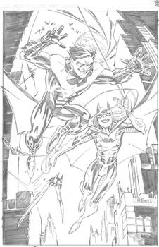 DC New 52 NIGHTWING and BATGIRL