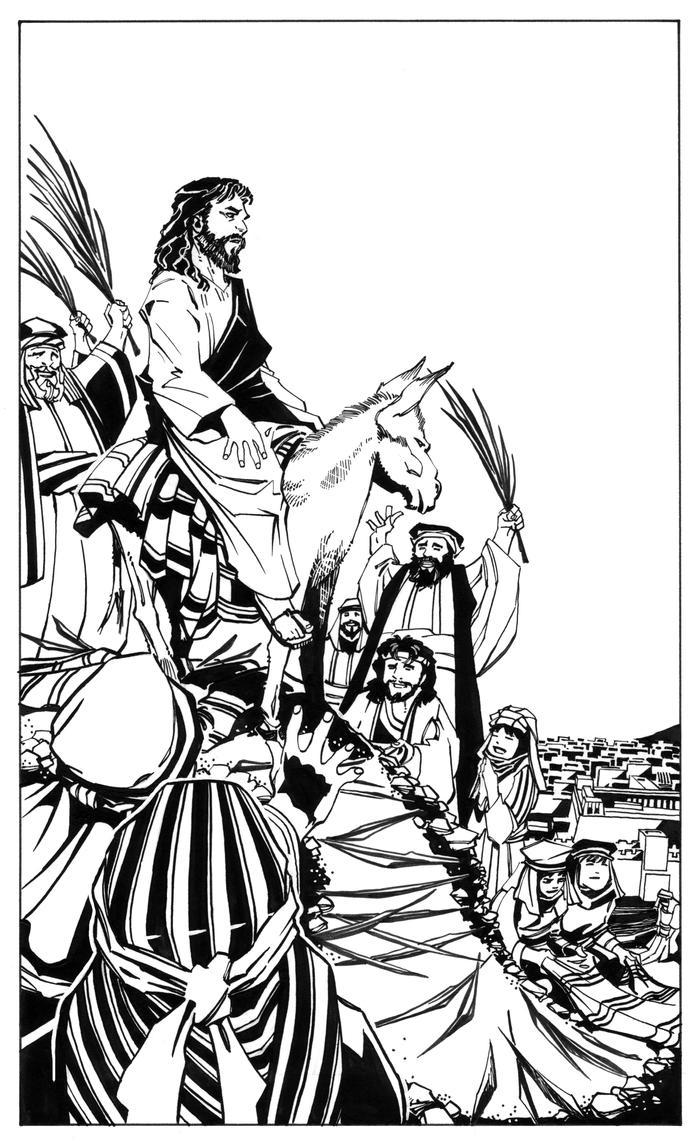 Christ's Triumphal Entry Into Jerusalem by ScottMcDaniel