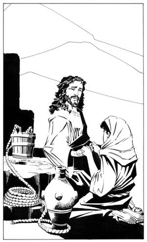 Jesus Christ and the Samaritan Woman at the Well