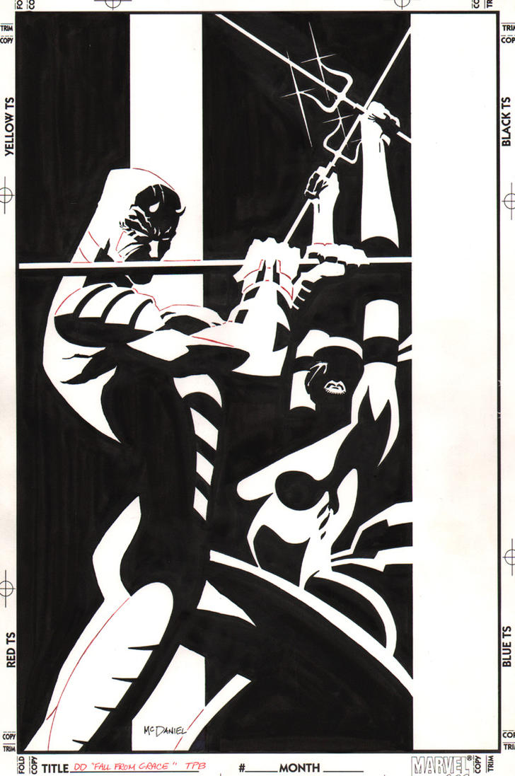 Daredevil Fall From Grace Trade Cover by ScottMcDaniel