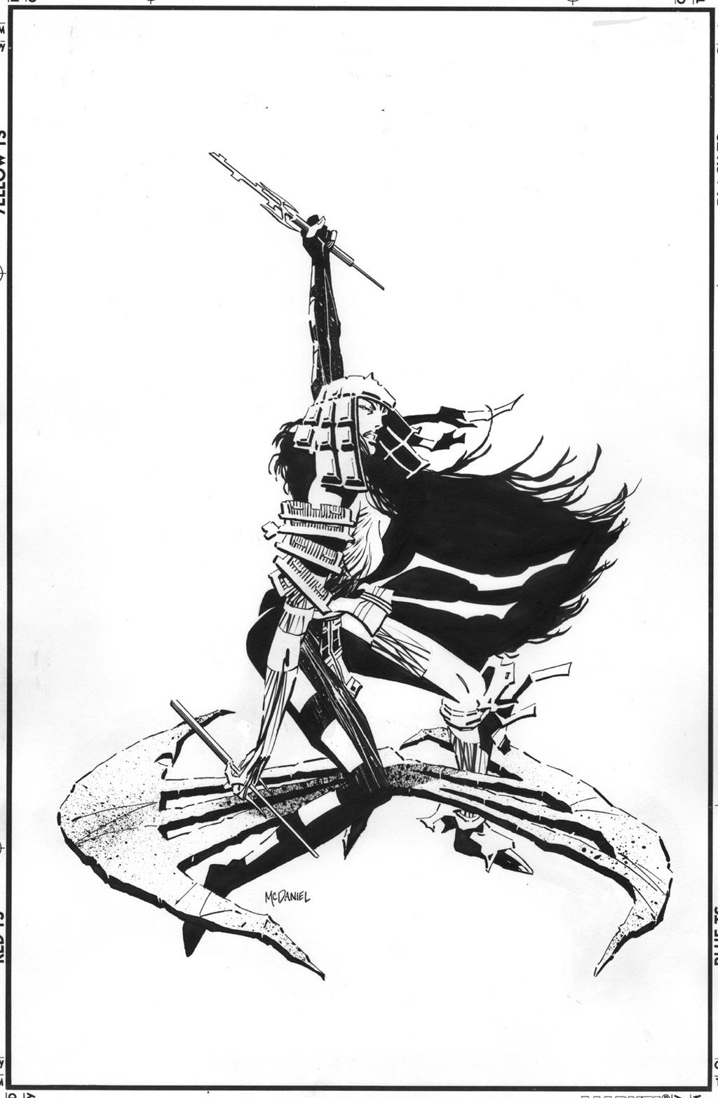 elektra root of evil  4 front cover art by scottmcdaniel