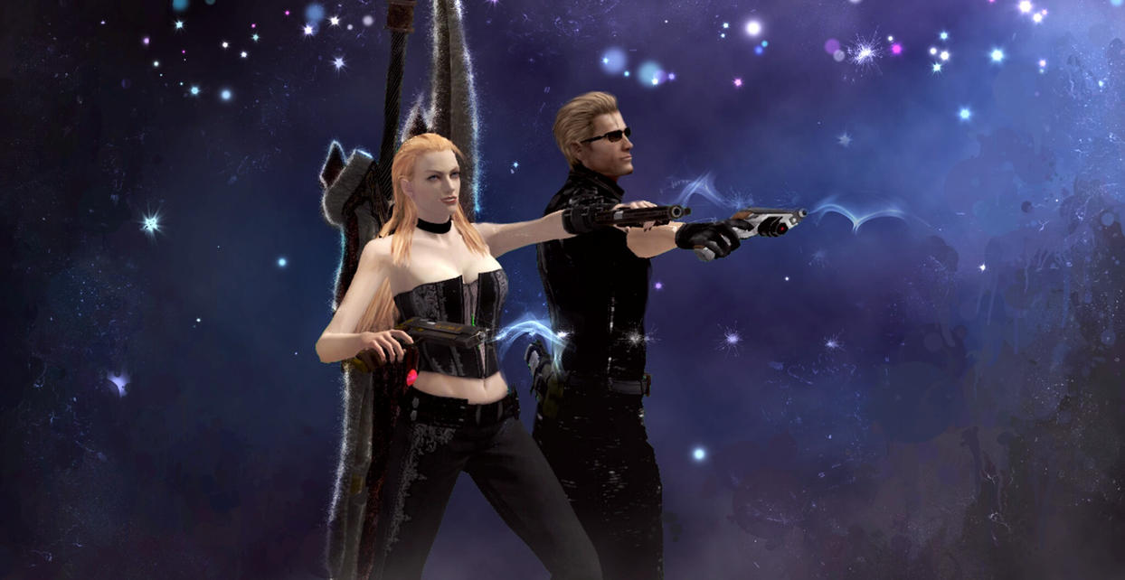 Wesker and Trish by AlexiaC3222