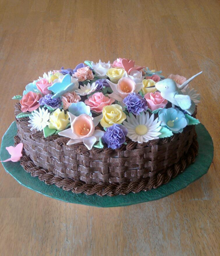 Flower Bouquet Birthday Cake by Ckiecrumb on DeviantArt
