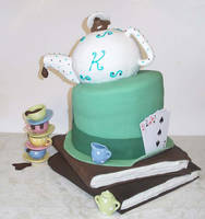 Mad Hatter Tea Party Birthday Cake by Ckiecrumb