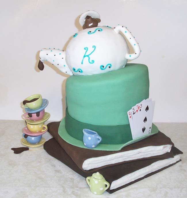 Mad Hatter Tea Party Birthday Cake By Ckiecrumb On Deviantart