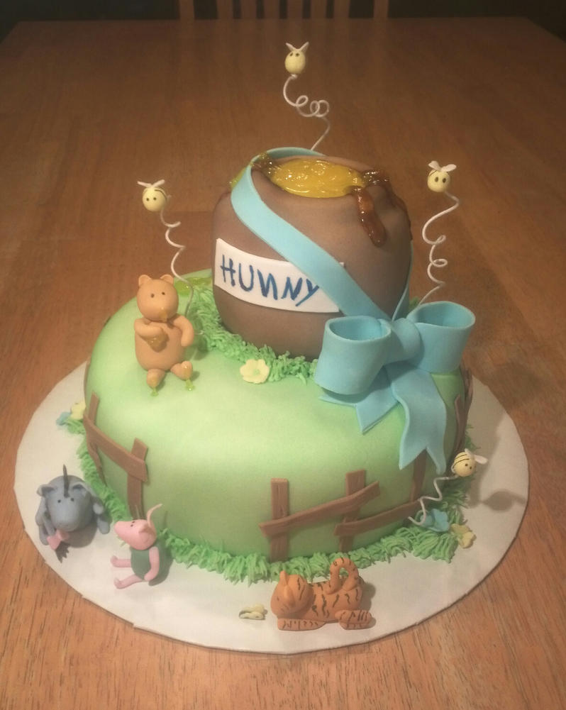 Winnie The Pooh Baby Shower Cake By Ckiecrumb On Deviantart