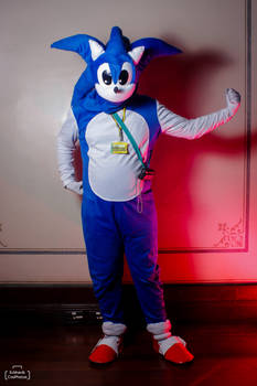 Sonic The Hedgehog Cosplay Pose 02 - Mania Pose