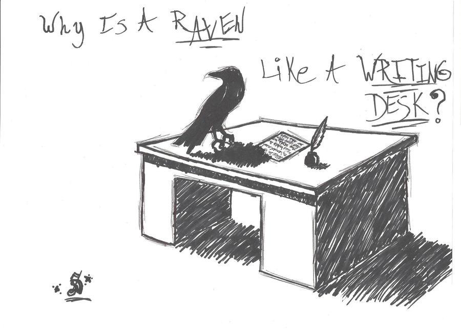a raven like a writing desk by sierra1223 on deviantart  rh   sierra1223 deviantart com