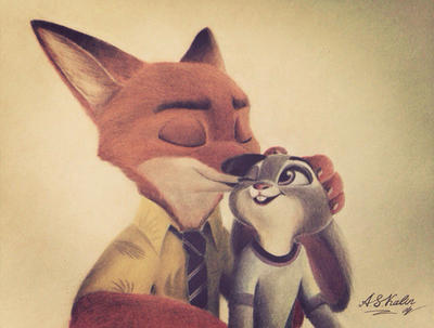 Nick and Judy Fan-art by AndrejSKalin