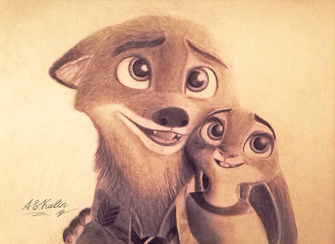 Nick and Judy smile  by AndrejSKalin