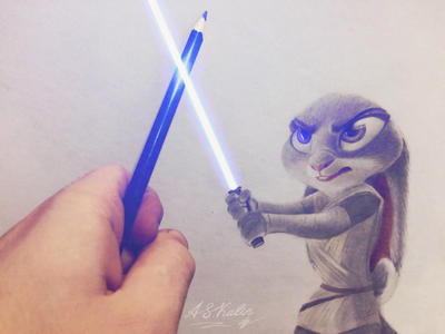Judy Hopps crossover Star Wars by AndrejSKalin