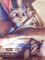 Judy drifts by AndrejSKalin