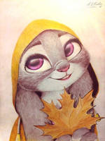 Judy Hopps drawing  by AndrejSKalin