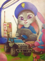 Judy as a child by AndrejSKalin