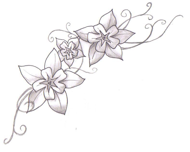 Flower Tat Updated - flower tattoo