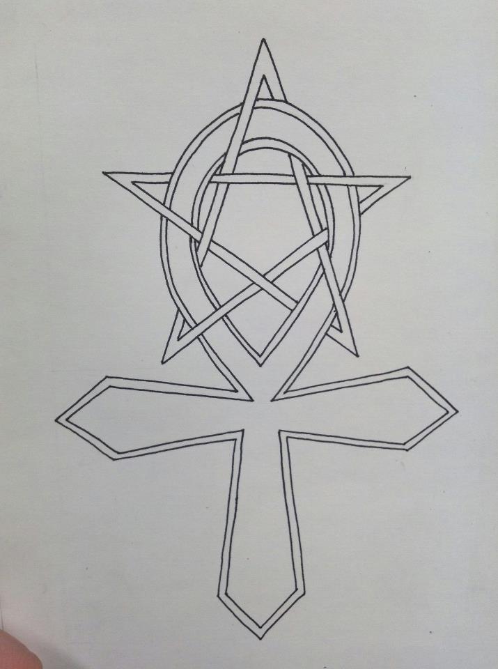 ankh pentagram tattoo by lone wolf wandering on deviantart. Black Bedroom Furniture Sets. Home Design Ideas