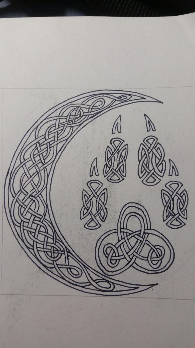 Celtic Wolf Paw and Crescent Moon by lone-wolf-wandering ...