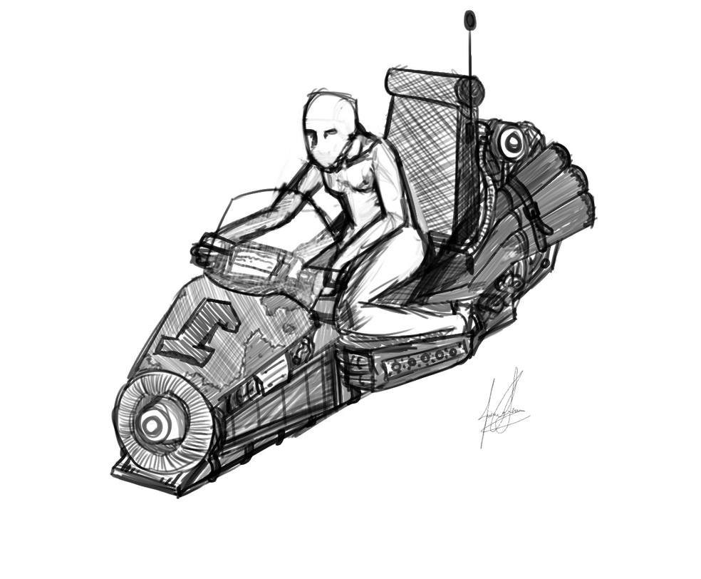 Sketch Flying Scooter by Charcowl on DeviantArt