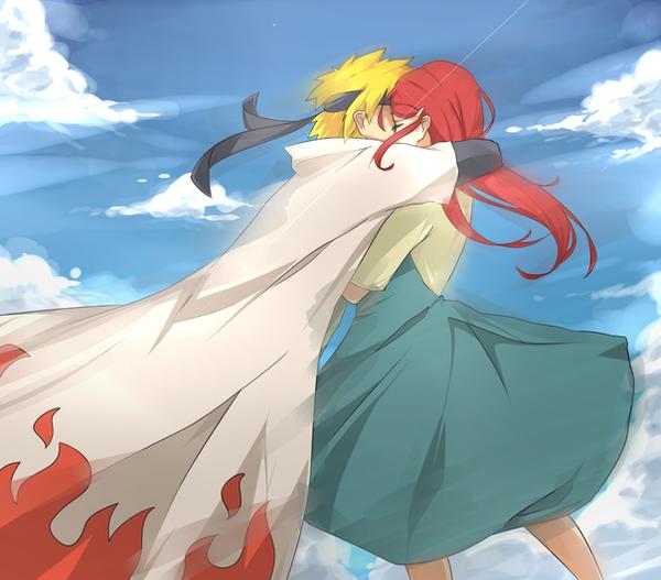 Minato + Kushina by Chuuco