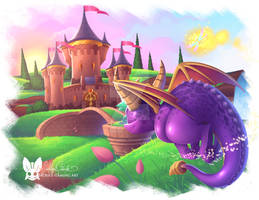 Spyro Reignited Artisans Home Painting