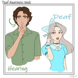 Deaf Awareness Week doodles