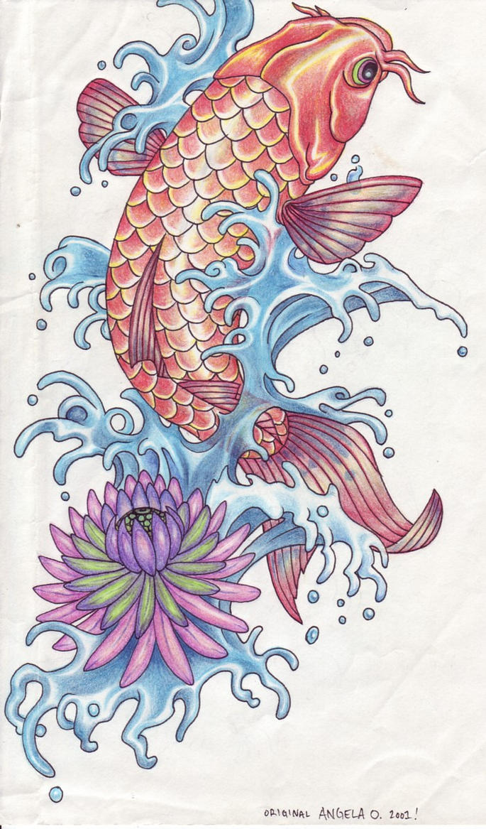 Koi Tattoo by AngieAauvre on